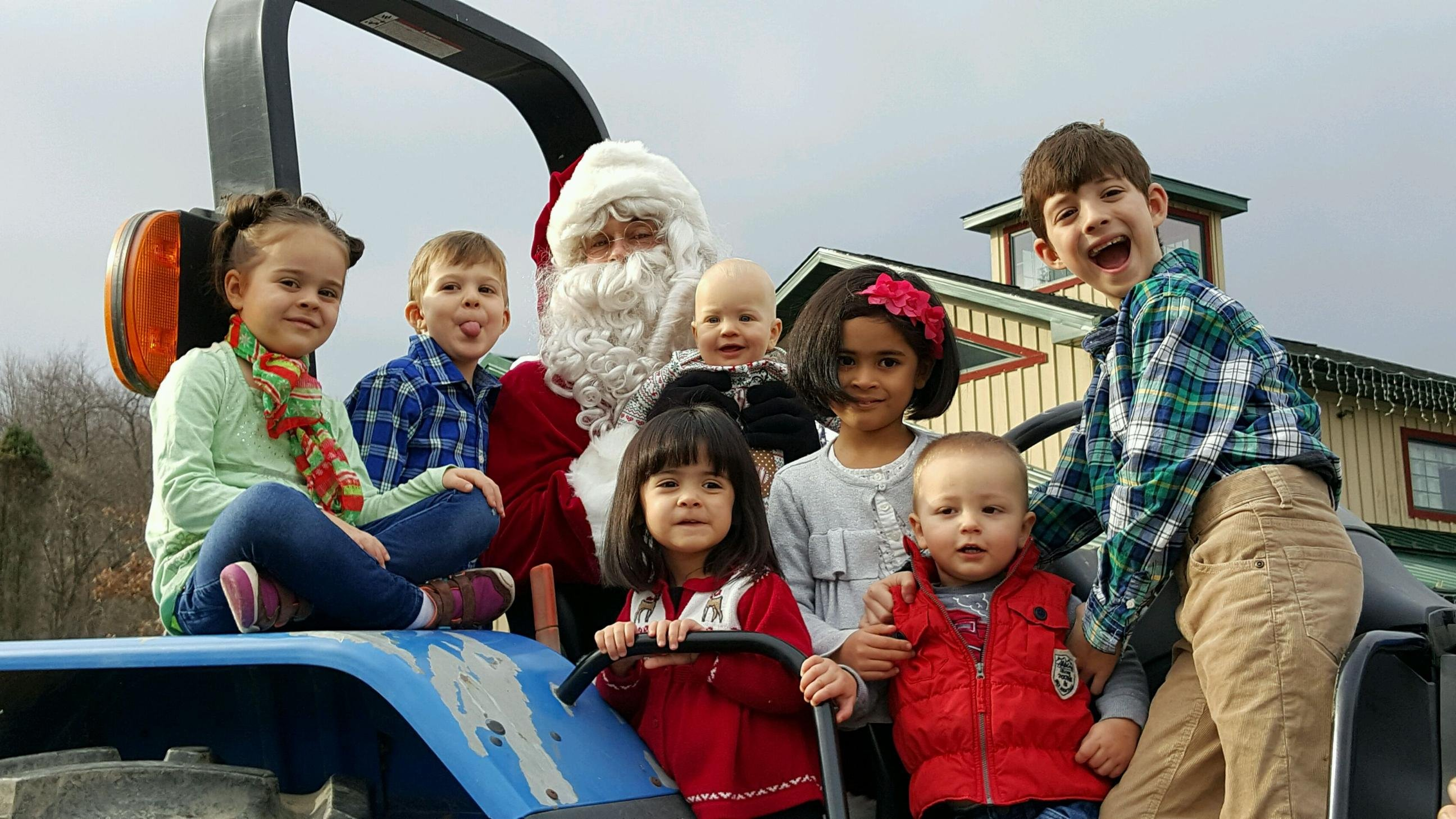 Santa On the Tractor