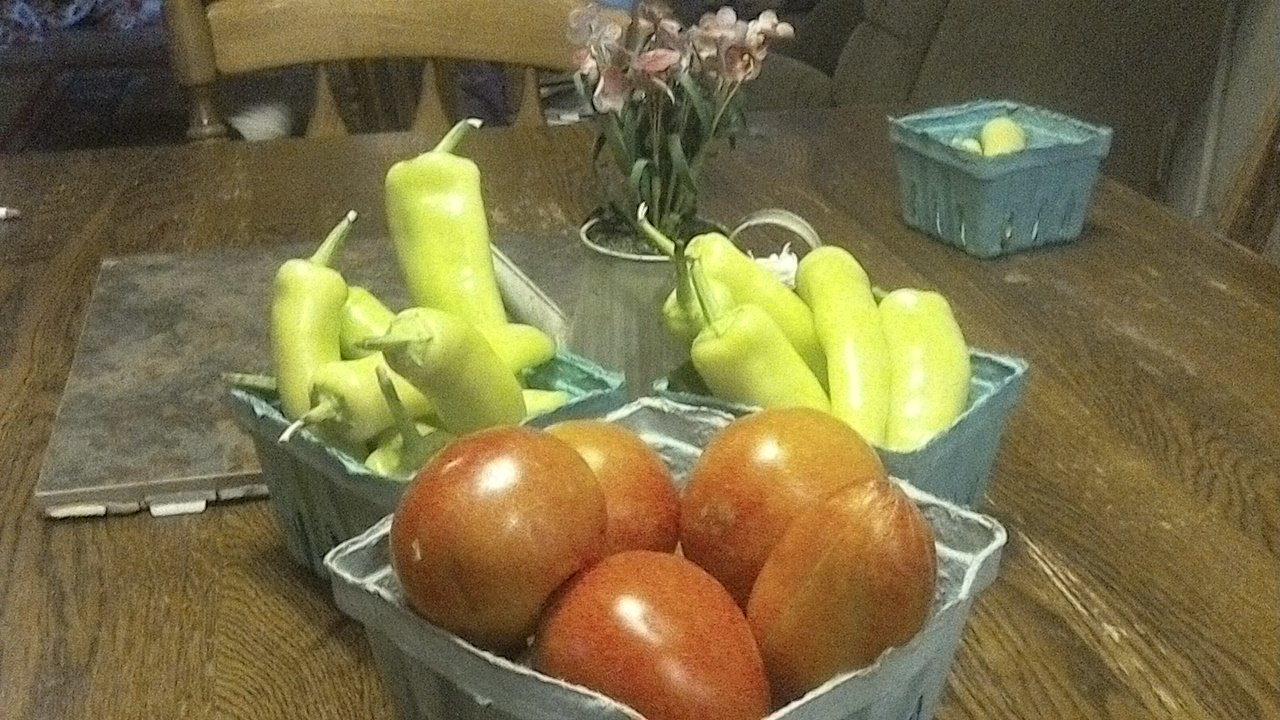 Tomatoes and Banana Peppers!
