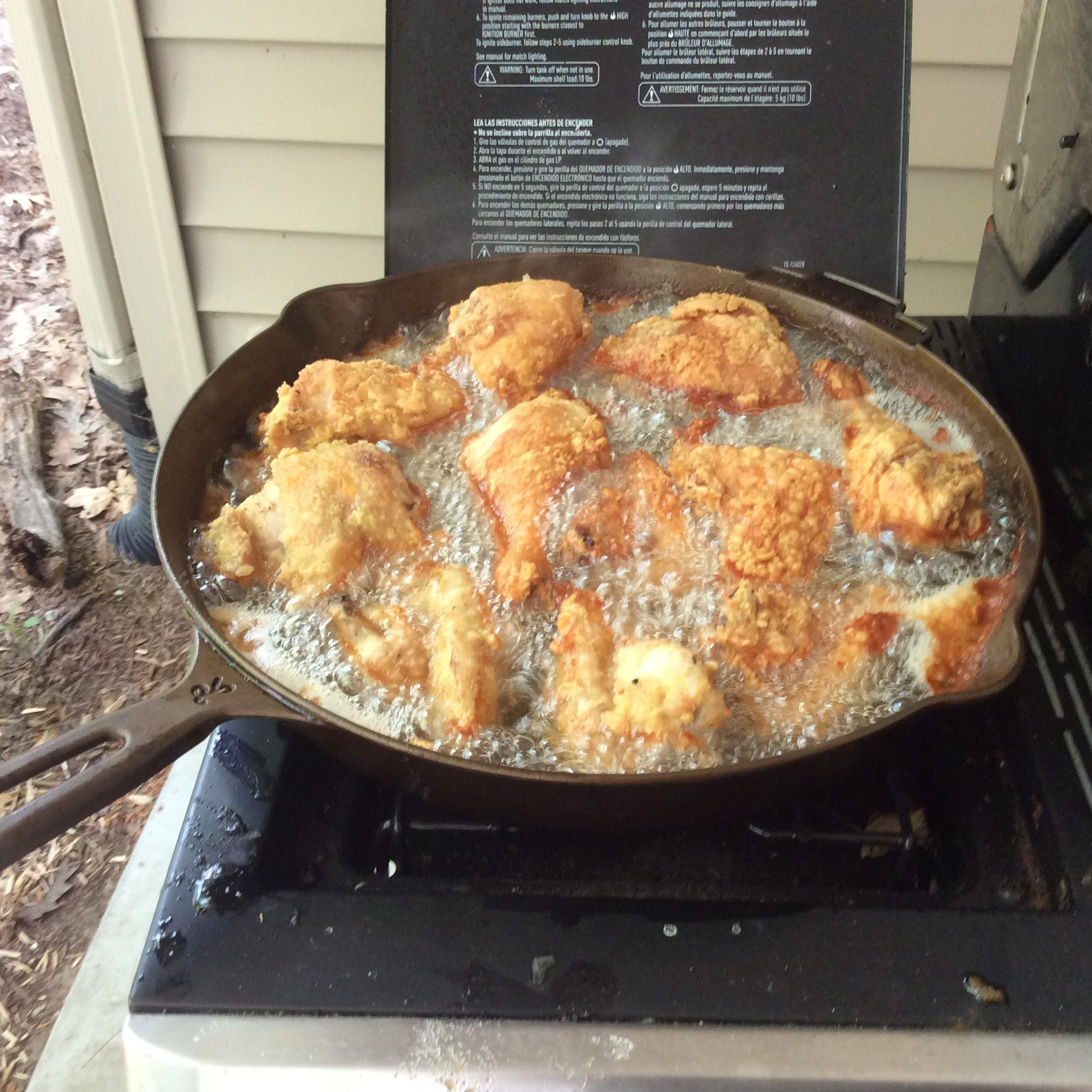 Chicken fried in pork lard