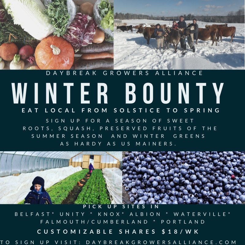 Farm Happenings 12/17/19. Note on Christmas week shares. Winter Bounty Shares Start Jan. 7th! Sign up now! Update from Villageside Farm