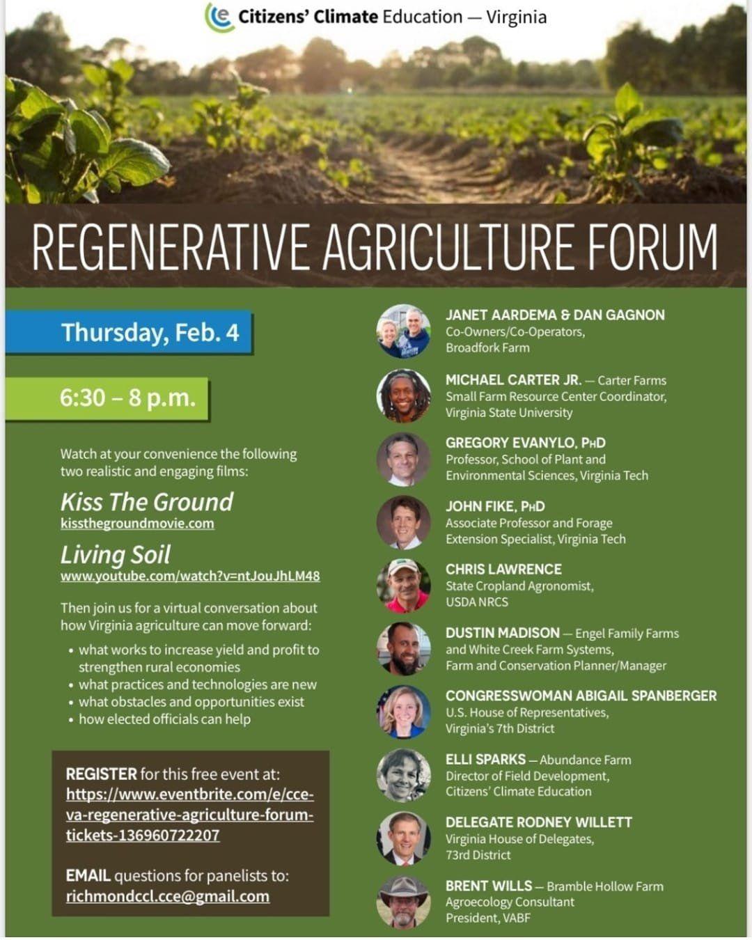 Regenerative Ag Forum this week! plus Farm Share details here -