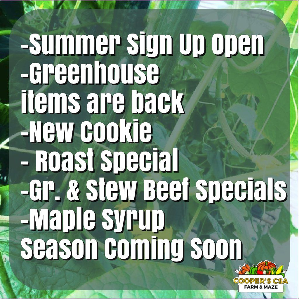 Winter/Spring Veggie Share 2020-2021-Coopers CSA Farm Happenings