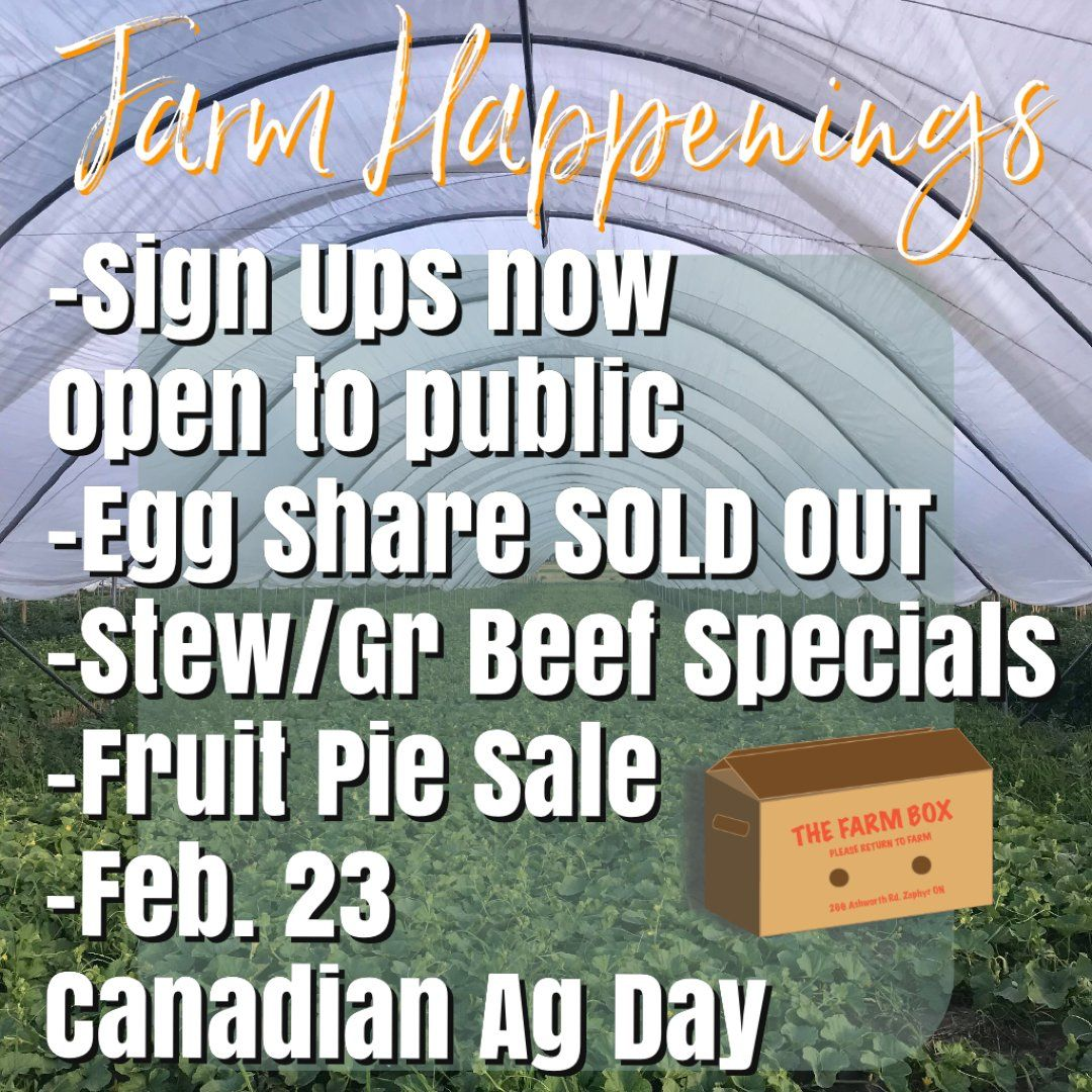 Winter/Spring Veggie Share Feb. 23rd-27th -Coopers CSA Farm Happenings