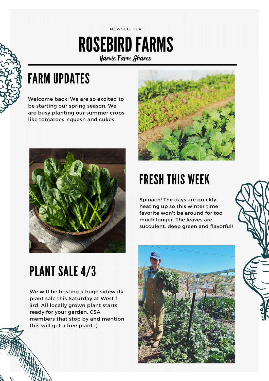 Farm Happenings for April 1, 2021