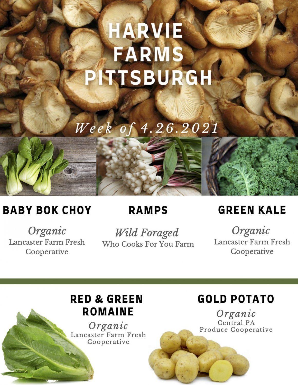 Previous Happening: Harvie Farms Pittsburgh Week of 4/26/2021