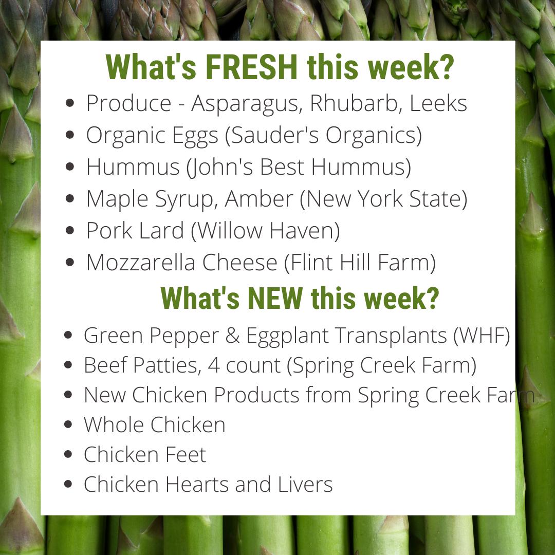Asparagus, Rhubarb, AND Leeks! Oh my!