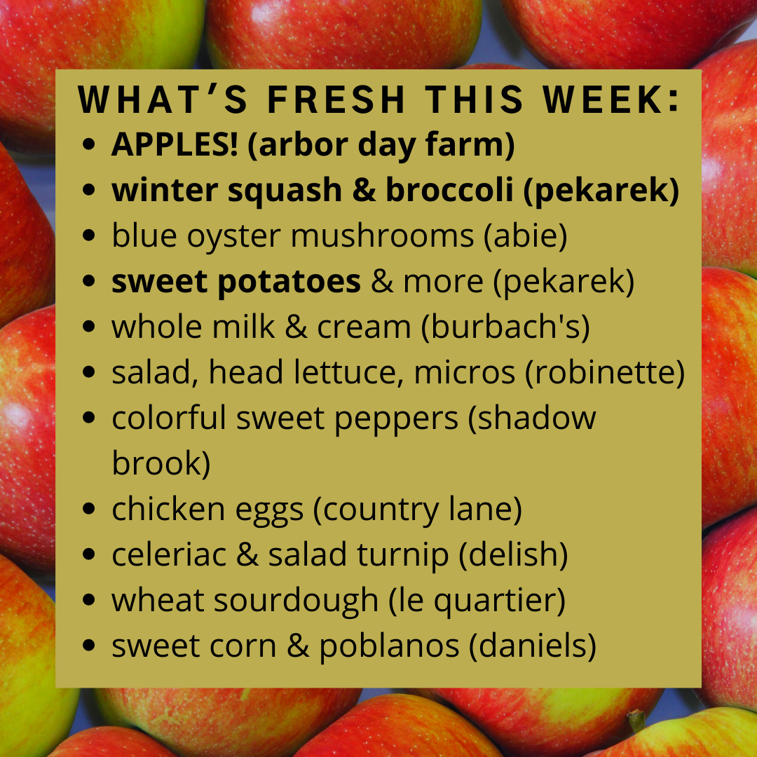 Online Farm Stand: October 7-8, 2021