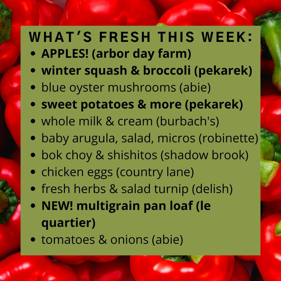 Online Farm Stand: October 14-15, 2021