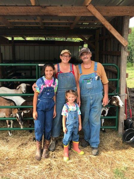When grandkids visit the farm...
