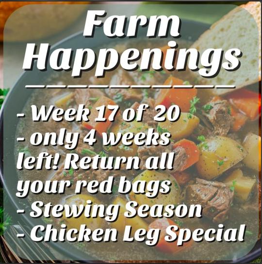 "Cooper's CSA Farm Summer 2021 Week 17 ""Meat Shares"" Sept.28th-Oct. 3rd 2021"
