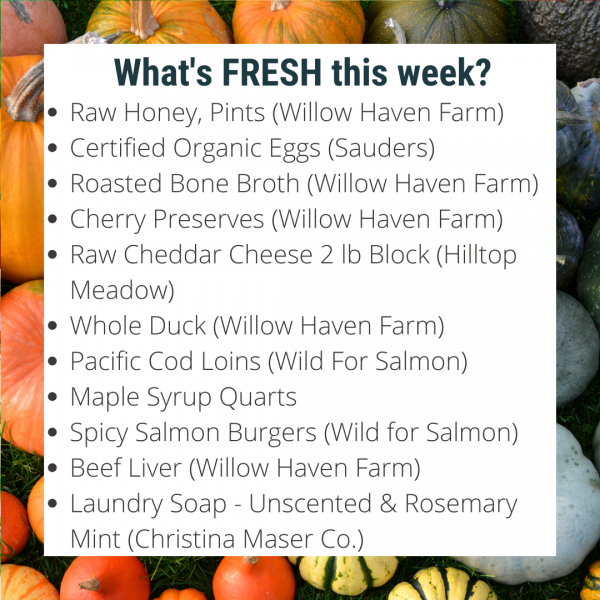 Willow Haven's Online Farm Stand is OPEN for Wednesday Deliveries